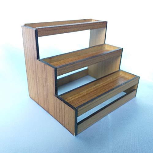 112 Dollhouse Miniature Wooden Shelf Mini Food Display Rack Showcase Shop Counter