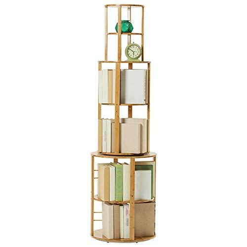 BBG Bookshelf360° Rotating Wooden Shelf Student Storage Shelf Childrens Bookshelf Multi-Layer Floor Bookshelf