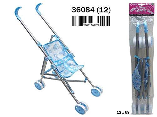 Brama Tritton Folding Metal Chair Blue 185 x 53 x 45 cm Multicolour 36084