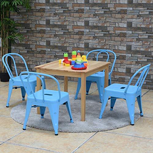 Set of 4 Tolix Kids Lightweight Stool Metal Chairs b