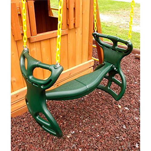 Heavy Duty Plastic Horse Glider with Coated Chain Swing Seat