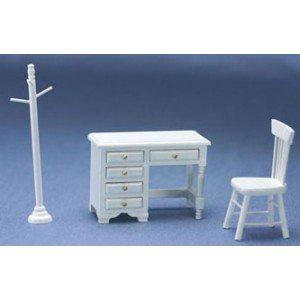 Dollhouse White Youth Desk Set