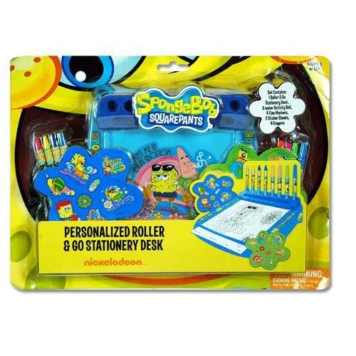 SpongeBob by Nickelodeon personalized roller go stationary desk set
