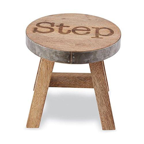 Mud Pie Wood TIN Step Stool