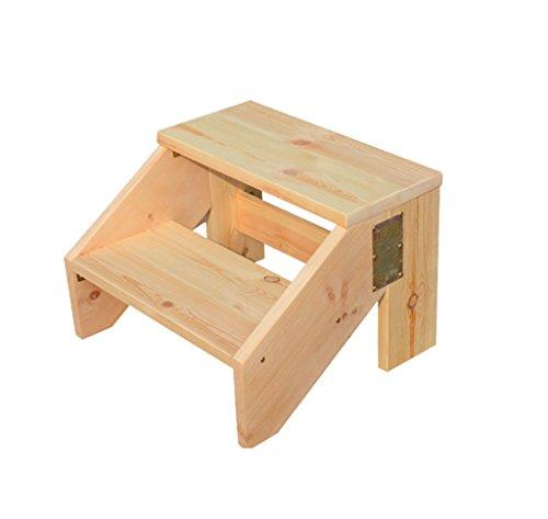 SHOP YJXA Step Stool Solid Wood Step Stool Home Interior Step Stool Multi-Function Shoe Telescoping Ladders