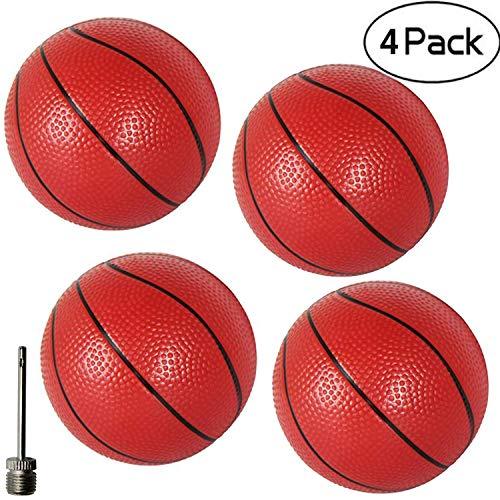 Gamtec 4PCS ToddlersKids Replacement Rubber Mini Toy Plastic Basketballs 629 Basketballs For Kids Adults 4PCS
