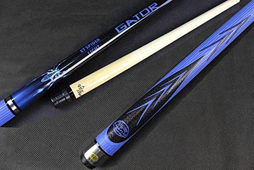 Blue Spider Maple Cue Stick 19oz  Black or White Fury Cue Case Billiards Glove