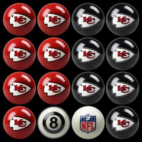 NFL Imperial Kansas City Chiefs Pool Billiard Ball Full Set