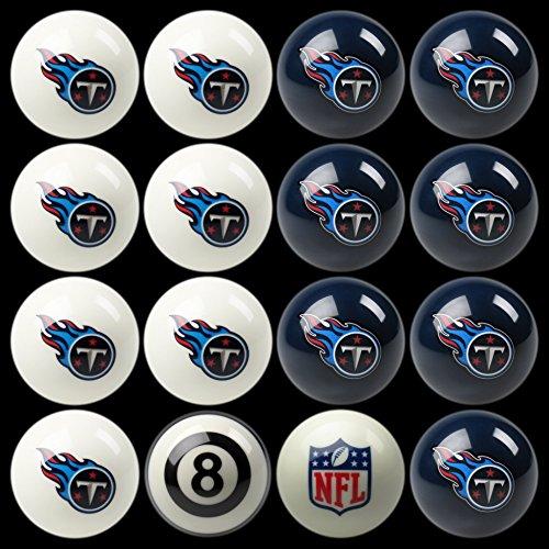NFL Imperial Tennessee Titans Pool Billiard Ball Full Set