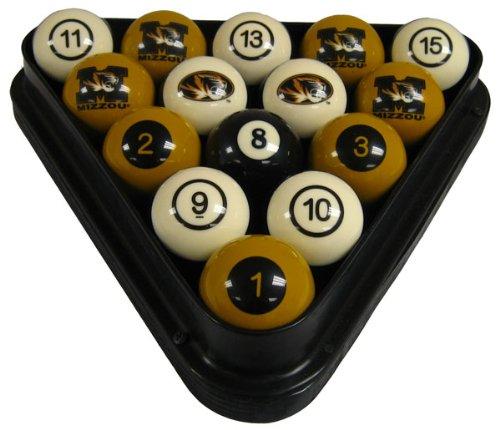 Wave 7 Technologies Mizzou Billiard Ball Set - NUMBERED