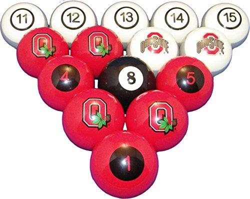 Wave 7 Technologies Ohio State Billiard Ball Set - NUMBERED