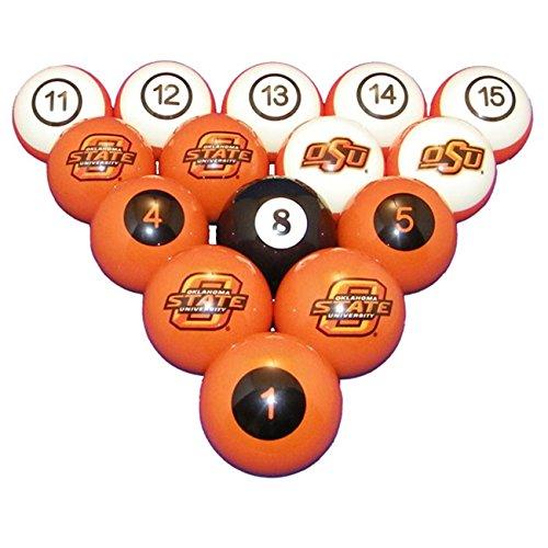 Wave 7 Technologies Oklahoma State Billiard Ball Set - NUMBERED