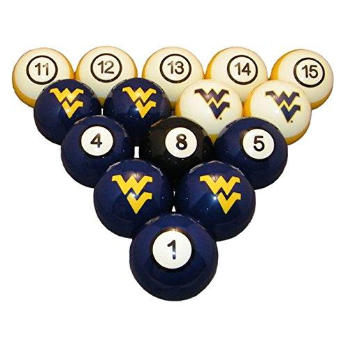 Wave 7 Technologies West Virginia Billiard Ball Set - NUMBERED