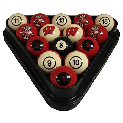 Wave 7 Technologies Wisconsin Billiard Ball Set - NUMBERED