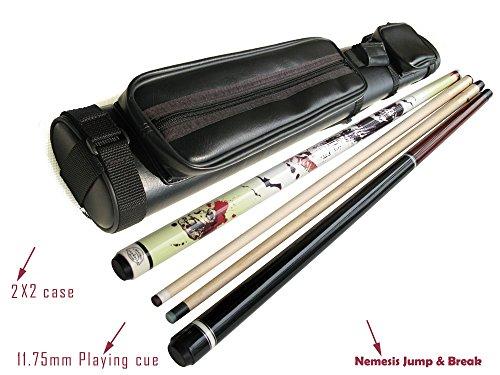 Black Friday Deal 48 Off - - Hk Maple Pool Cue Stick 21oz  Champion Nemesis Jump and Break Cue 20oz  2x2 Black Case  Billiard Glove  Aim Trainer