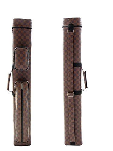 Brand New J&j 2x2 Dark Brown Billiard Pool Cue Stick Carrying Strap Case2s2b