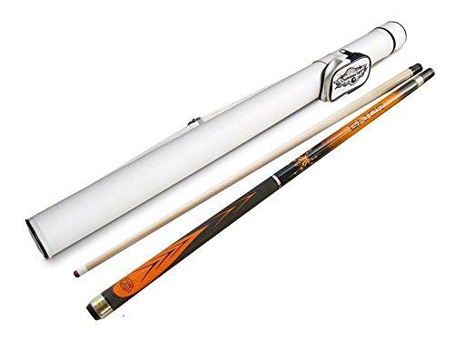 Orange Spider Maple Cue Stick 19oz  Black or White Fury Cue Case  Billiards Glove