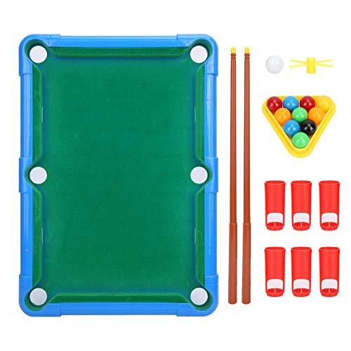 Children Mini Billiard Ball Pool Table Game Classic Table TOP Billiards Multi-Color Average Size Entertainment PropsBlue