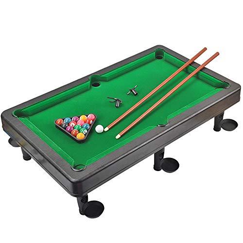 Mini Tabletop Pool Set Mini Pool Table Plastic Table Top Miniature Pool Game Set with Mini Pool Balls Cue Sticks Tabletop Toy Pool Table for Adults Kids Tabletop Billiards Pool