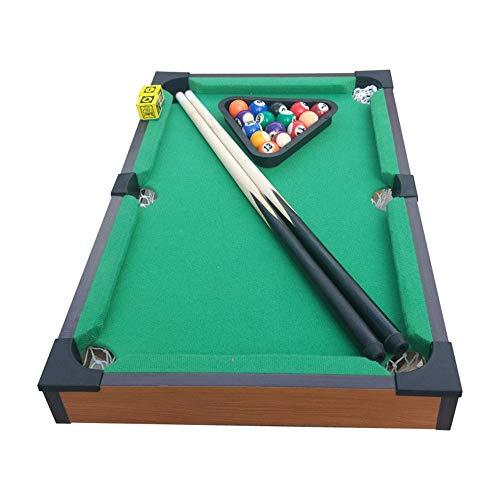 Mini Tabletop Pool Set Tabletop Toy Miniature Billiard with Mini Pool Balls Cue Sticks Accessories for Adults Kids Desktop Miniature Pool Table Set Tabletop Toy Gaming Tabletop Billiards Pool