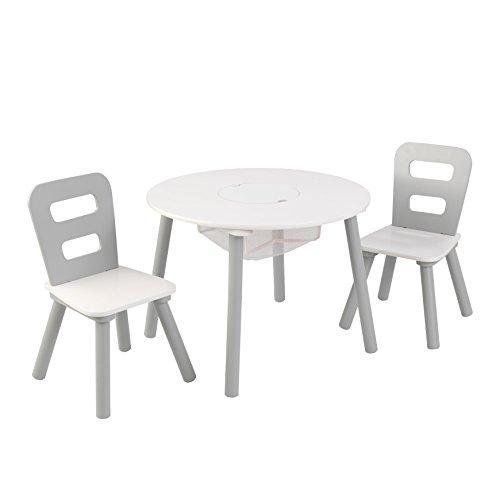 KidKraft Round Table Chair Set Wht Gray Others White Gray