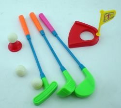 Mini Plastic Golf Clubs Ball And Hole Cup Toy