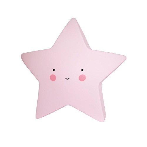 A Little Lovely Company Table Lighting Star Pink Lamp For Baby Child Boys Girls Toddler Living Room