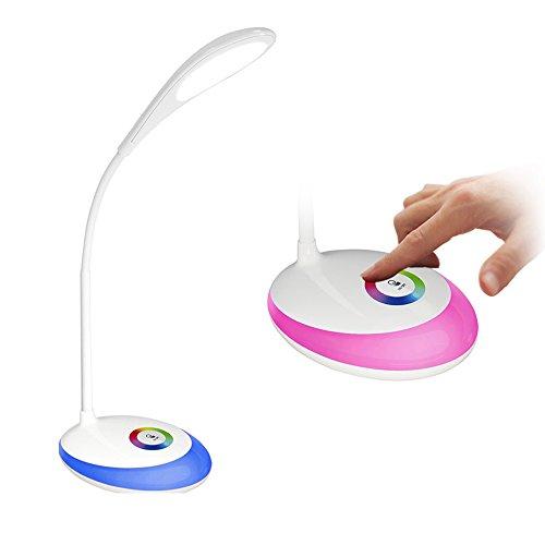 BUTEO LED Desk Lamp Touch Lamps for Eye Protection Desk Light Adjustable Lighting Colorful Night Lights Reading Lamps Reading Lights Table Lamps Touch Night Lamps LED Multicolor Desk Lights