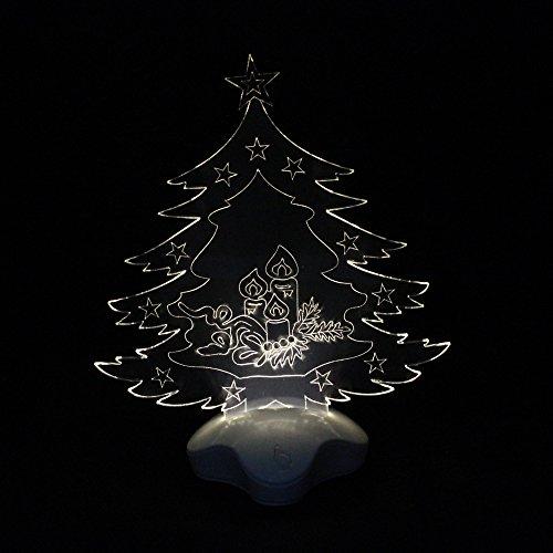 LED Christmas Decoration Toys-3D Lamp Christmas Tree Bb-8 Night 7 Color Change Best Gift Night Light LED Furnish Desk Table Lighting Home Decoration Toys Christmas Tree Warm White LED Light