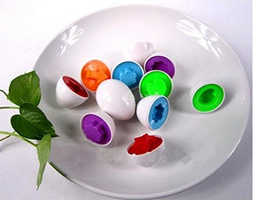 Sangdo 6xBaby Child Kid Educational Learning Color Egg Shape Pretend Play Toy J