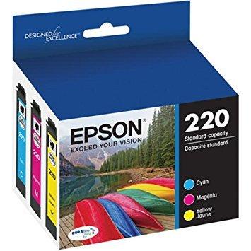 Epson DURABrite Ultra T220 Ink Cartridge Multi-pack - Cyan Yellow Magenta Model T220520