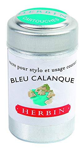 Herbin Writing Ink Cartridges - Blue Creek Pot of 6