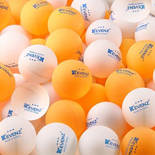 100-Pack KEVENZ 3-Star Plus 40mm Table Tennis BallsOrangWhiteping-pong ballK2