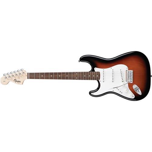 Squier by Fender Affinity Stratocaster Beginner Electric Guitar - Left Handed - Rosewood Fingerboard Brown Sunburst