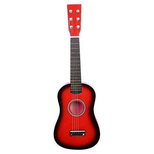 Glarry 23 inch Children Acoustic Guitar Beginner Guitar Package Kids Toy Guitar Student Guitar GuitarPickStrings Red by Glarry