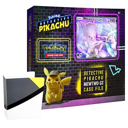 Pokemon TCG Detective Pikachu Mewtwo-Gx Case File  6 Booster Pack  A Foil Promo Gx Card  A Oversize Gx Foil Card  1 Ultra Ball Themed Mini Binder
