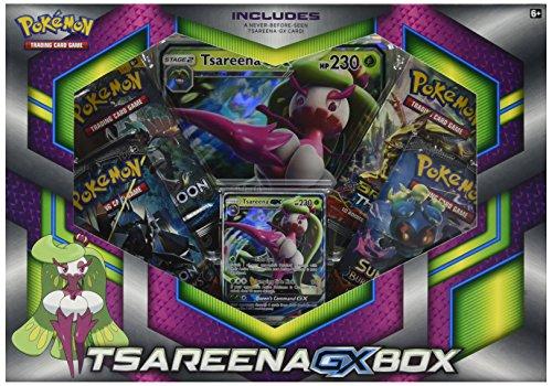 Pokemon TCG Tsareena-Gx Box - 4 Booster Pack with A Foil Promo Card 1 Foil Oversize Card