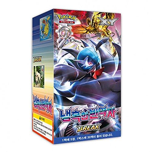 Pokemon Card XY11 BREAK Booster Pack Box 30 Packs in 1 Box Steam Siege Cruel Traitor Korea Ver TCG