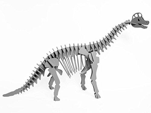 Boneyard Pets BRA-KGRA Brachiosaurus Dinosaur 3D Puzzle Gray