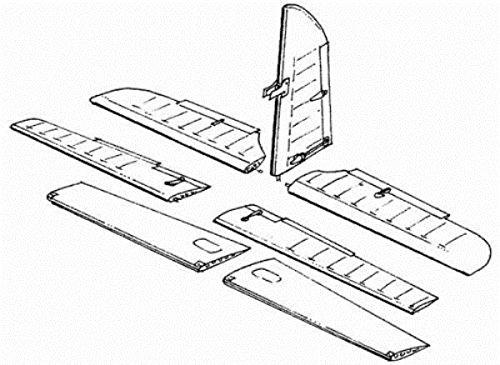 CMK 148 Me-410 B Control Surfaces Set For Revell-Monogram Kit Resin 4006