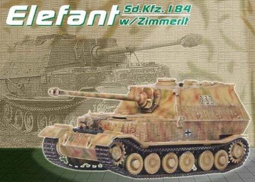 DRAGON ARMOR 172 Scale Prefinished Fully-Detailed Model German SdKfz184 Elefant sPzJgAbt 653 232 RussiaPoland 1944 60053
