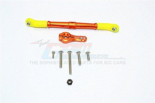 Axial SCX10 II Upgrade Parts AX90046 AX90047 Aluminum Adjustable Servo Rod 25T Servo Horn - 2Pcs Set Orange
