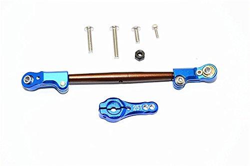 Axial SCX10 II Upgrade Parts AX90046 AX90047 Spring Steel Adjustable Servo Rod With Aluminium Ends 25T Servo Horn - 2Pcs Set Blue