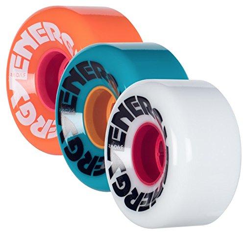 Riedell Energy Quad Outdoor Skate Wheels 62mm - 8 Pack White