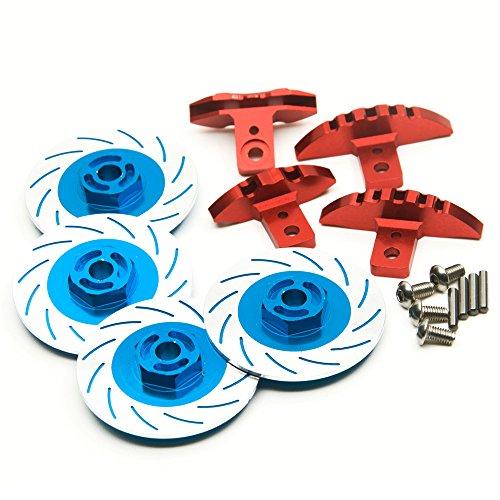 Jack-Store Brake Disc and Caliper Set for Sakura D4 110 Drifting RC Car Blue