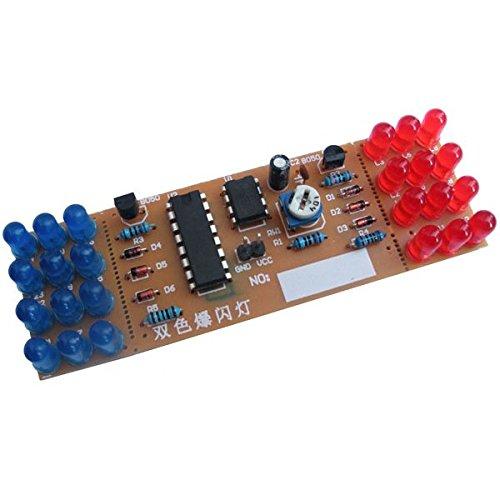 Icstation Red Blue LED Flashing Strobe Lights Kits DIY Electronics Soldering Practice Set