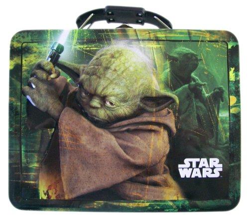 Star Wars Tin Box 6in Jedi Master Yoda Tinbox - Yoda Lunchbox