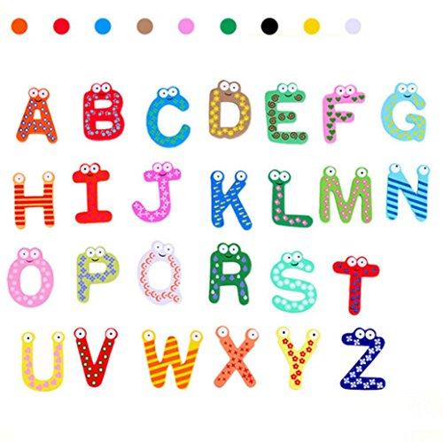 ElevinTM 26 Letters Fridge Magnet kid Baby Educational Toy Bath Toy Christmas Toys