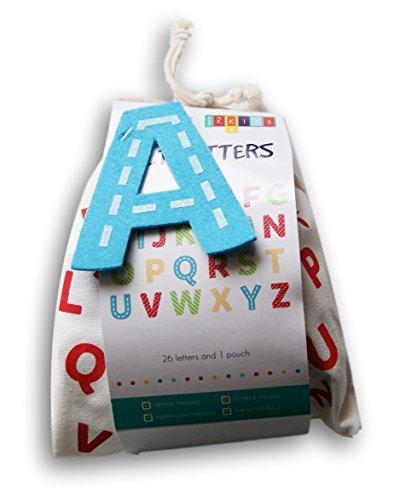 Toy Alphabet Set - Felt Letters in Pouch