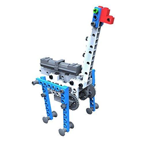 AR Motorial Building Robot SainSmart Jr Blocks Team BT-03 New Creative Educational Robotics Blocks DIY Assembling Robot Set with Comics AR View Foresting STEM Skills Giraffe by SainSmart Jr